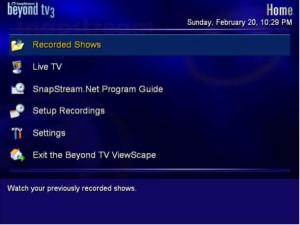 PVR Panasonic screen
