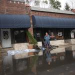 Milton Road flooded
