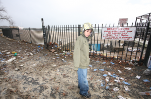 My son astonished by the aftermath of Hurricane Sandy