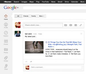 google+homepage